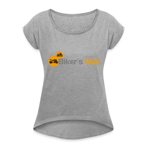Biker's Hub Small Logo - Women's T-Shirt with rolled up sleeves