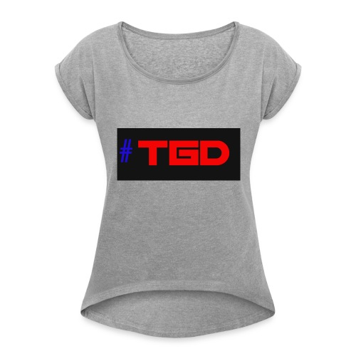 TGD LOGO - Women's T-Shirt with rolled up sleeves