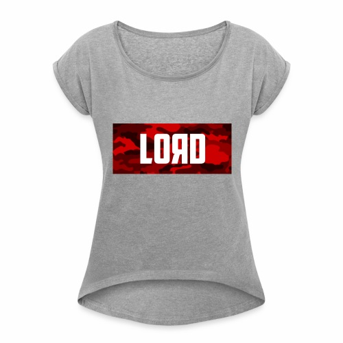 LOЯD Red Camo - Women's T-Shirt with rolled up sleeves