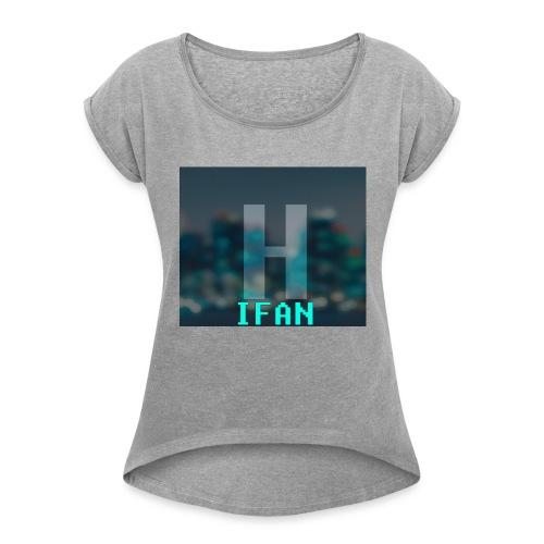 HardstyleEurope-T'Shirts - T-skjorte med rulleermer for kvinner