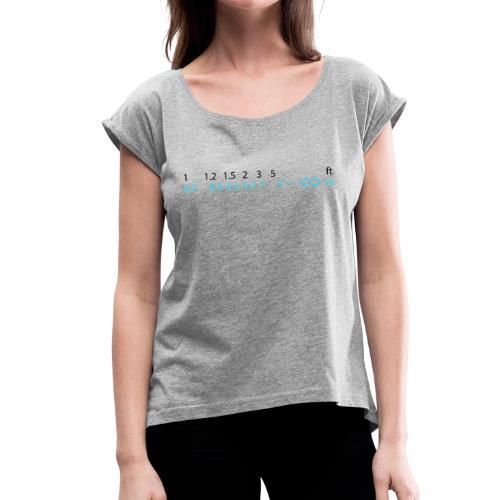 Fookus Ring - Frauen T-Shirt mit gerollten Ärmeln