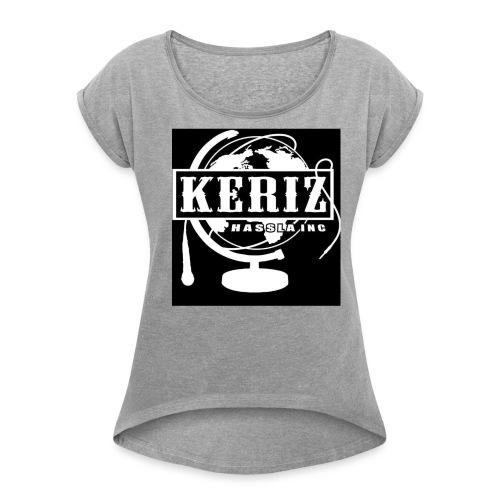 Logo Keriz - Frauen T-Shirt mit gerollten Ärmeln