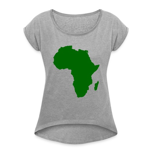 African styles green - Women's T-Shirt with rolled up sleeves