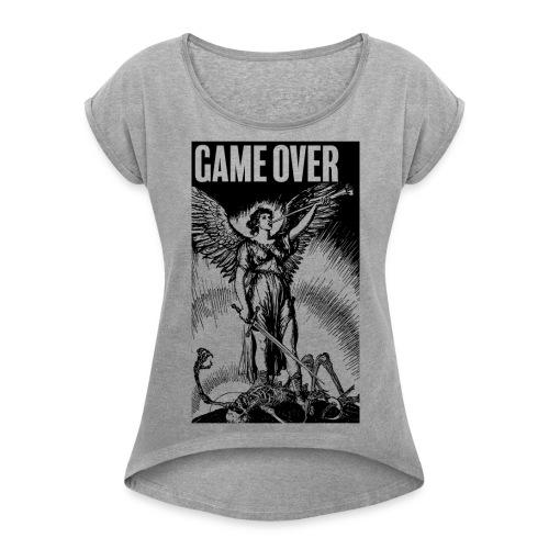 Game Over - T-shirt à manches retroussées Femme
