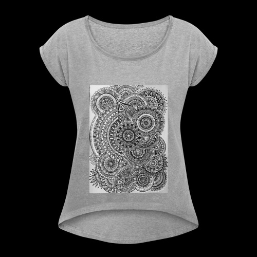 Chaos and Symmetry // - Women's T-shirt with rolled up sleeves