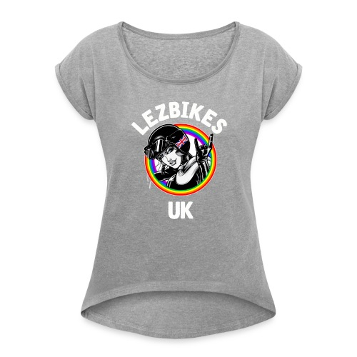 Lezbikes Logo - Women's T-shirt with rolled up sleeves