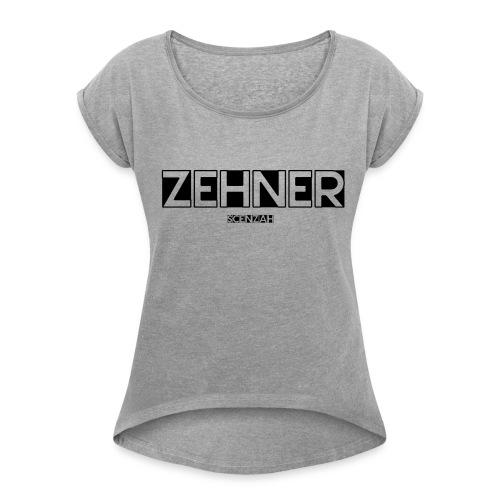 scenzah zehner merch - Frauen T-Shirt mit gerollten Ärmeln
