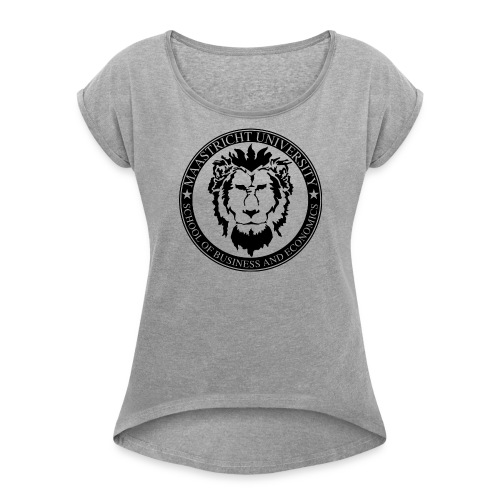 SBE Lion Black - Women's T-Shirt with rolled up sleeves