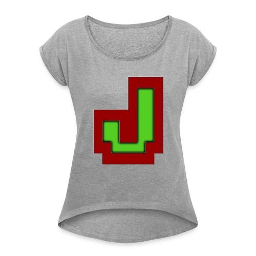 Stilrent_J - Dame T-shirt med rulleærmer