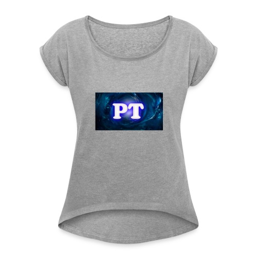 Project T Logo - Women's T-Shirt with rolled up sleeves