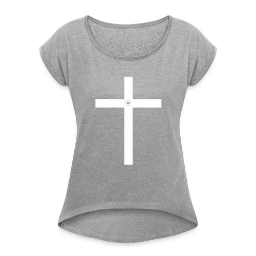 HP Kreuz - Frauen T-Shirt mit gerollten Ärmeln