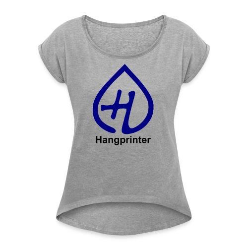 Hangprinter logo and text - T-shirt med upprullade ärmar dam