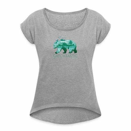 Bär Natur - Frauen T-Shirt mit gerollten Ärmeln