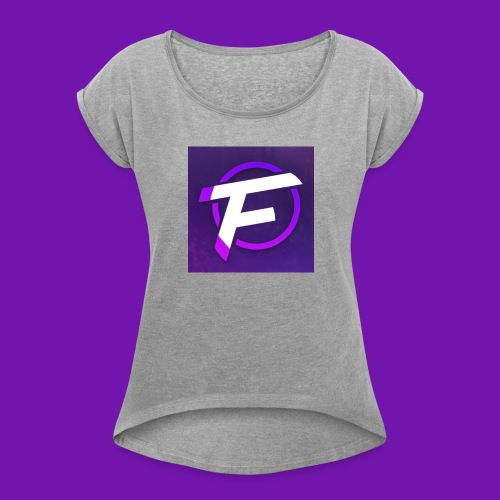 Flux Clan Logo - Women's T-Shirt with rolled up sleeves