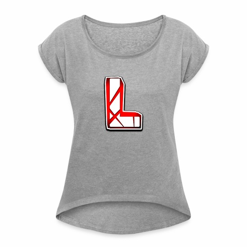 Leon Schmidt LOGO - Women's T-Shirt with rolled up sleeves