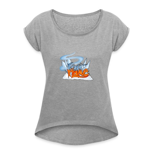 FrostFlame Logo - T-skjorte med rulleermer for kvinner