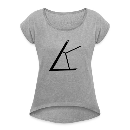 LKB Logo RD - Frauen T-Shirt mit gerollten Ärmeln