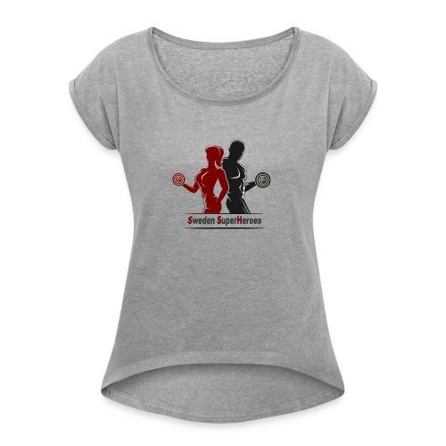 Sweden SuperHeroes - T-shirt med upprullade ärmar dam
