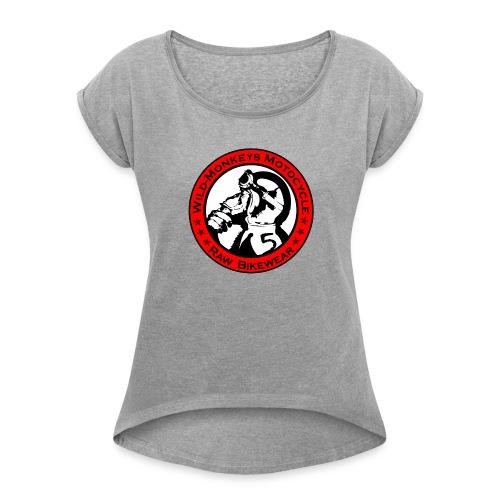 wildmoto - Frauen T-Shirt mit gerollten Ärmeln