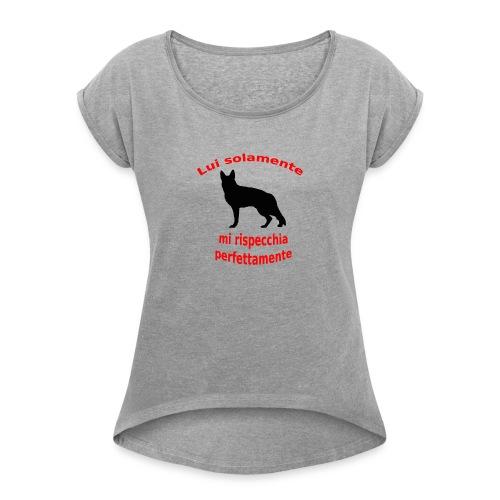 Pastore Tedesco - Maglietta da donna con risvolti