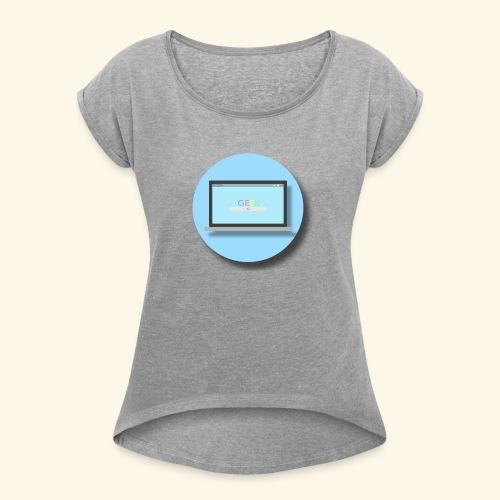 GEEK PC 1 - Flat Circle - T-shirt à manches retroussées Femme