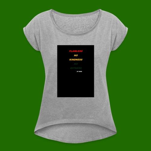 Yellow RED - T-shirt à manches retroussées Femme