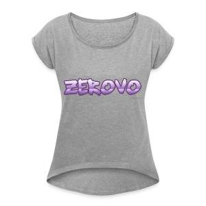zerovomerchandise - Vrouwen T-shirt met opgerolde mouwen
