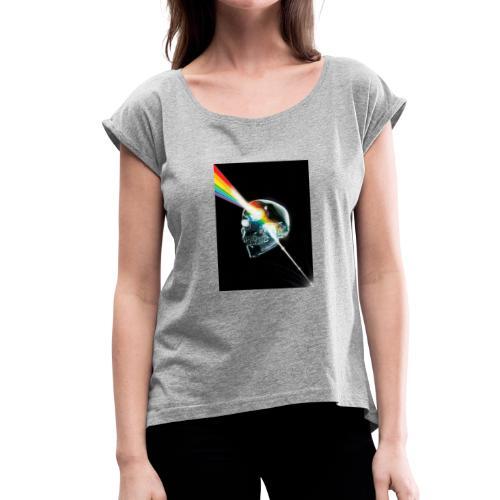 tete de mort gay - T-shirt à manches retroussées Femme