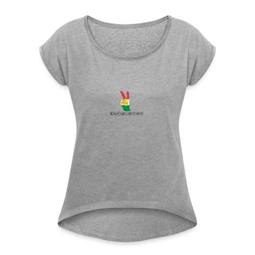 Kurdistan Peace - Frauen T-Shirt mit gerollten Ärmeln