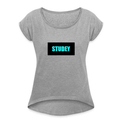 STUDEY - T-shirt à manches retroussées Femme