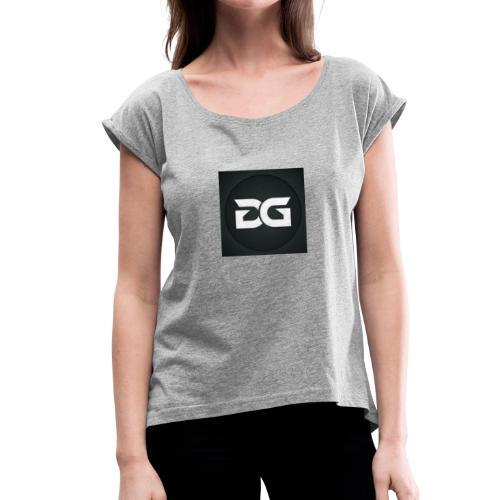 DavGames - Frauen T-Shirt mit gerollten Ärmeln