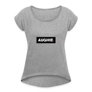 Aughie Design #1 - Women's T-shirt with rolled up sleeves