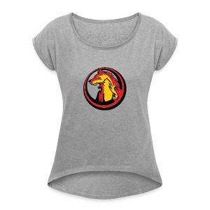Wolf pack 2 - Women's T-shirt with rolled up sleeves