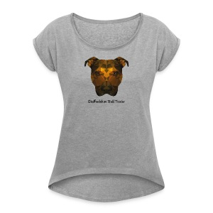 Staffordshire Bull Terrier - Women's T-shirt with rolled up sleeves