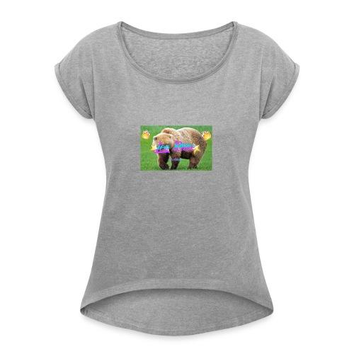 gtrg - T-skjorte med rulleermer for kvinner