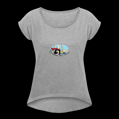 Fatherhood Badly Doodled - Women's T-shirt with rolled up sleeves