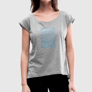 Old school tattoo - Women's T-shirt with rolled up sleeves