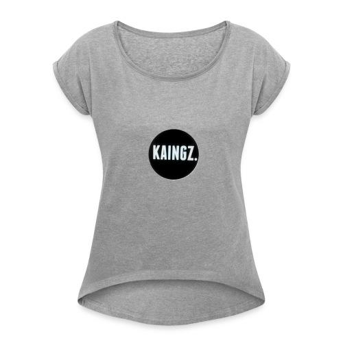 Kaingz - Vrouwen T-shirt met opgerolde mouwen