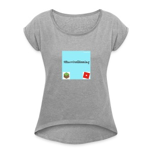 #KnowitallGaming Custom Workwear - Women's T-shirt with rolled up sleeves