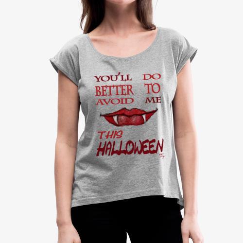 halloween women - T-shirt à manches retroussées Femme