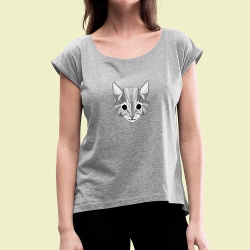 Kitten - Maglietta da donna con risvolti