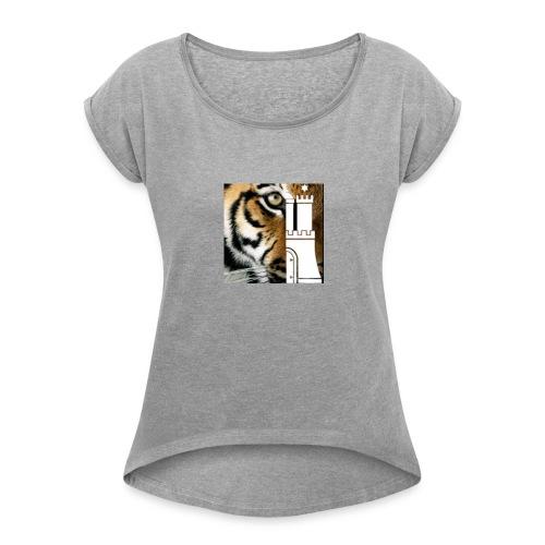 HamburgC4Tiger - Frauen T-Shirt mit gerollten Ärmeln