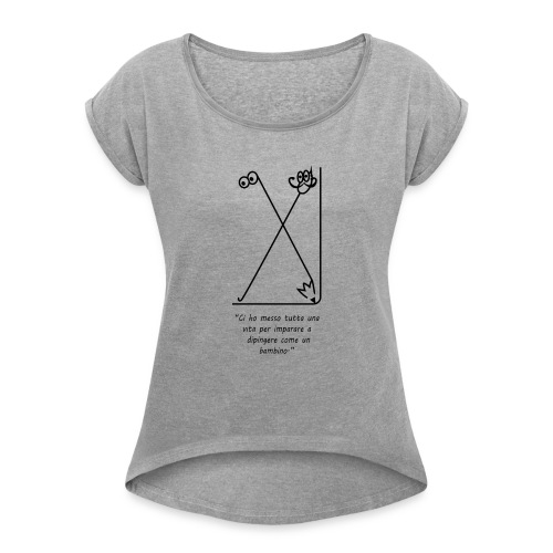 strumenti creativi - Maglietta da donna con risvolti