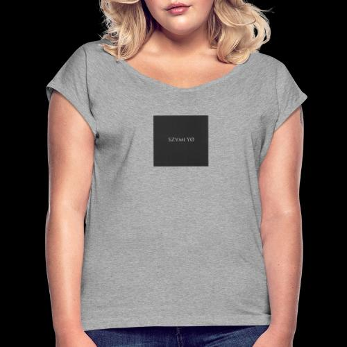 SZymi Y - Koszulka damska z lekko podwiniętymi rękawami