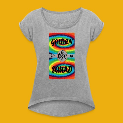 LIMITED EDITION tie dye merch - Women's T-Shirt with rolled up sleeves