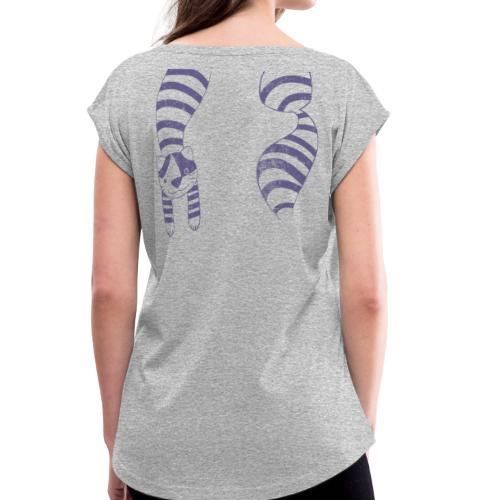 Alice's cat - T-shirt à manches retroussées Femme