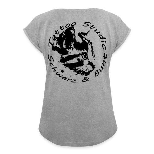 mietze33 - Frauen T-Shirt mit gerollten Ärmeln