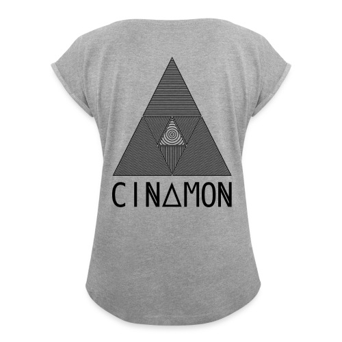 Prïsm - black - T-shirt à manches retroussées Femme