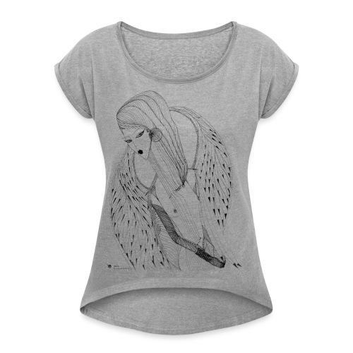 Lady Falcon - Women's T-Shirt with rolled up sleeves