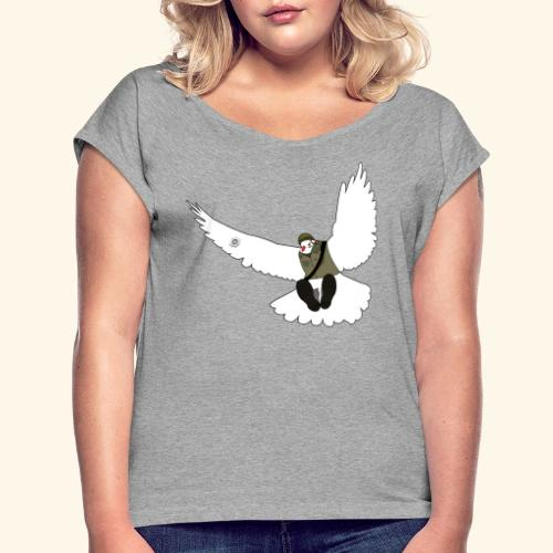 War Dove - T-shirt med upprullade ärmar dam